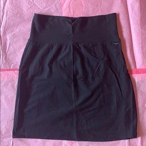 Victoria's Secret PINK basic black bodycon skirt